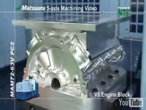 V8 Engine Block Machined From Solid